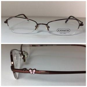 Coach Brown Pink Oval Eyeglasses Frames NWOT